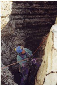 Павел Демидов в Пещере Метро 2000 г. (Арабика , район Треугольника)