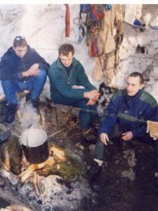 Лагерь у Заблудших февраль 2000 г.