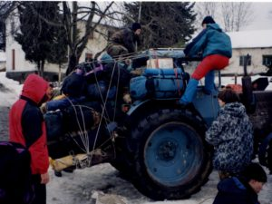 Заброска на хребет Алек февраль 2000 года